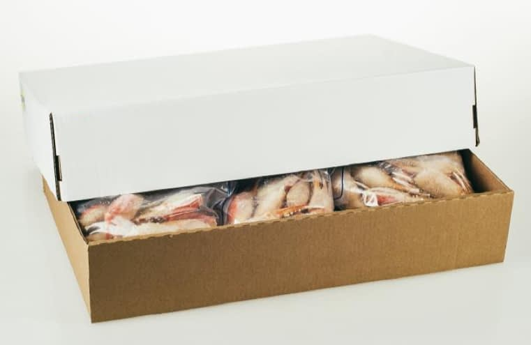Snow Crab claws in box