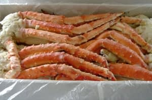 Russian Crab Crab sections