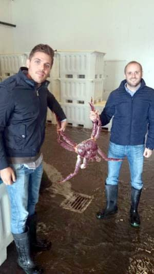 Antoine Honore & Michael Honore with King Crab